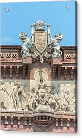 Spain, Barcelona, Arc De Triomf (large Acrylic Print by Jim Engelbrecht