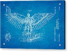 Spalding Flying Machine Patent Art  2 1889 Blueprint Acrylic Print by Ian Monk