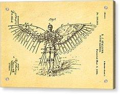 Spalding Flying Machine Patent Art  2 1889 Acrylic Print by Ian Monk
