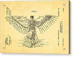 Spalding Flying Machine Patent Art  3 1889 Acrylic Print by Ian Monk