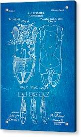 Spalding Flying Machine Patent Art  4 1889 Blueprint Acrylic Print by Ian Monk