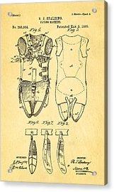 Spalding Flying Machine Patent Art  4 1889 Acrylic Print by Ian Monk