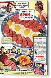 Spam 1960s Usa Hormel Meat Tinned Acrylic Print by The Advertising Archives