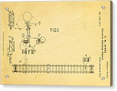 Spang Railway Signal Patent Art 1875  Acrylic Print