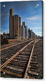 Spangle Grain Elevator Color Acrylic Print