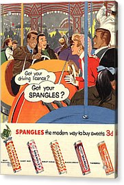 Spangles 1950s Uk Sweets Acrylic Print by The Advertising Archives