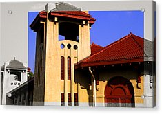 Spanish Architecture Tile Roof Tower Acrylic Print
