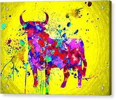 Spanish Bull Acrylic Print by Daniel Janda