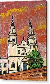 Spanish Church Acrylic Print by Sarah Loft