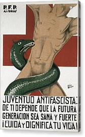 Spanish Civil War 1936-1939. Juventud Acrylic Print by Everett