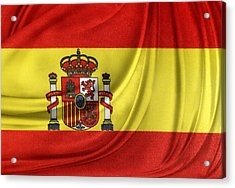 Spanish Flag Acrylic Print by Les Cunliffe