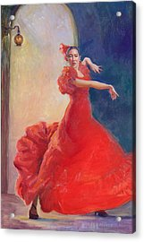 Spanish Flame Acrylic Print by Gwen Carroll