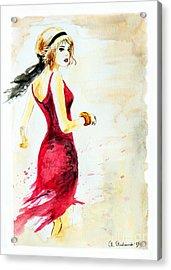 Spanish Girl Acrylic Print by Anna Androsovski