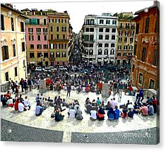 Spanish Steps Looking Down Acrylic Print