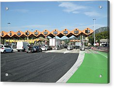 Spanish Toll Booths Acrylic Print by Photostock-israel