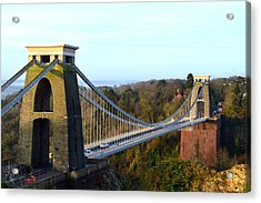 Spanning The Gorge Acrylic Print by Bishopston Fine Art