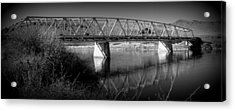 Spanning The Missouri  Acrylic Print by Roxann Tempel