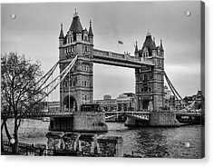 Spanning The Thames Acrylic Print by Heather Applegate