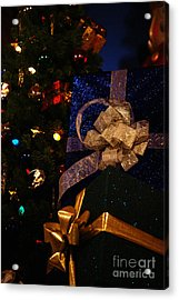 Sparkle Ribbon And Bows Acrylic Print by Linda Shafer