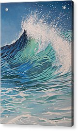 Sparkling Turquoise Acrylic Print