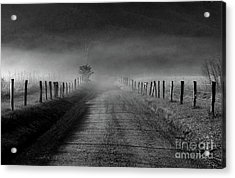Sparks Lane In Black And White Acrylic Print by Douglas Stucky