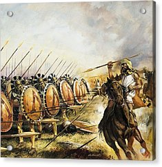 Spartan Army Acrylic Print by Andrew Howat