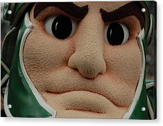 Sparty Face  Acrylic Print by John McGraw