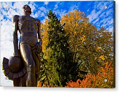 Sparty From Below In Autumn Acrylic Print