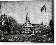 Spaulding High School - Rochester Nh Acrylic Print by Robert Goudreau