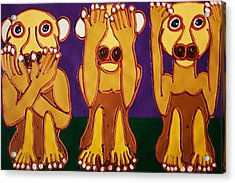 Speak No Evil See No Evil Hear No Evil Acrylic Print