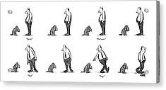 Speak. Roll Over. Heel. Stay Acrylic Print by Robert Weber