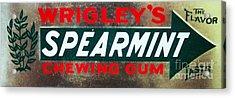 Spearmint Gum Sign Vintage Acrylic Print by Saundra Myles