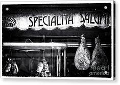 Special Salami Acrylic Print by John Rizzuto