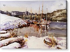 Special Winter In Vancouver Acrylic Print by Marta Styk