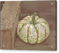 Speckled Gourd Acrylic Print by Tracy Meola