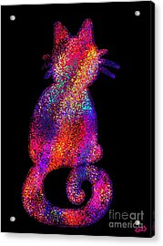 Speckled Rainbow Cat Acrylic Print by Nick Gustafson