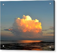 Spectacular Cloud In Sunset Sky Acrylic Print