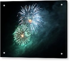Spectacular Fireworks Acrylic Print by Zeiss4me