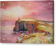 Spectacular On The Isle Of May Scotland Acrylic Print