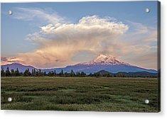 Spectacular Shasta Valley Sunset Acrylic Print