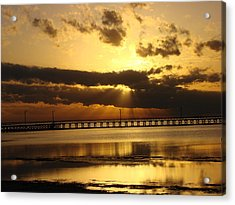 Acrylic Print featuring the photograph Spectacular Sunrise Two by Linda Cox