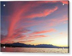 Spectacular Sunset Colors Acrylic Print