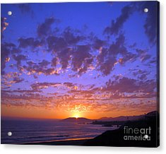 Acrylic Print featuring the photograph Spectacular Sunset  by Debra Thompson