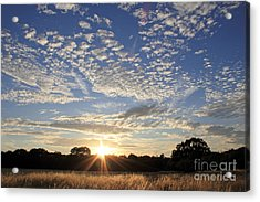 Spectacular Sunset England Acrylic Print