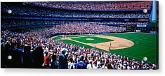 Spectators In A Baseball Stadium, Shea Acrylic Print by Panoramic Images