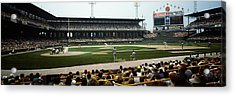 Spectators Watching A Baseball Match Acrylic Print by Panoramic Images