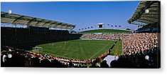 Spectators Watching A Soccer Match, Usa Acrylic Print by Panoramic Images