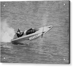 Speed Boat Racing Acrylic Print