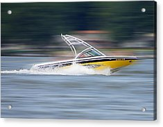 Speed Boat Acrylic Print by Thomas Fouch