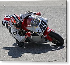 Acrylic Print featuring the pyrography Speed In The Corner by Shoal Hollingsworth